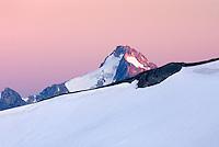 Mount Blum peeking over ridge of Ruth Mountain, North Cascades Washington