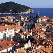 View of Dubrovnik and Lokrum Island in Croatia