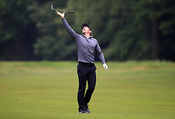 Northern Ireland's Rory McIlroy reacts on the 17th hole during day two of the 2018 BMW PGA Championship at Wentworth Golf Club, Surrey.