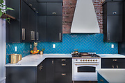 A splash of color as photographed by Rodney Bedsole in the kitchen of a 19th century home