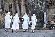 Nuns near St James Cathedral Santiago de Compostela, Galicia, Spain