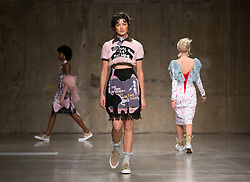 Models on the catwalk during the Mimi Wade Fashion East Autumn/Winter 2017 London Fashion Week show at the Topshop Show Space, Tate Modern, London.
