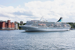 Royal cruise ship in sea, Stockholm, Sweden