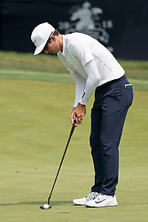 August 12, 2018 - St. Louis, Missouri, United States - Dylan Frittelli putts the 9th green during the final round of the 100th PGA Championship at Bellerive Country Club. (Credit Image: © Debby Wong via ZUMA Wire)