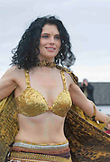 Galway Belly Dance member taking part in the best  Galway St Patrick's Day Parade in years with a hugely international feel to it . photo:Andrew Downes.