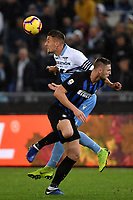 Sergej Milinkovic-Savic of Lazio and Milan Skriniar of Internazionale compete for the ball  during the Serie A 2018/2019 football match between SS Lazio and FC Internazionale at stadio Olimpico, Roma, October, 29, 2018 <br />  Foto Andrea Staccioli / Insidefoto