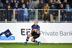 Jack Wilson of Bath Rugby claims the ball - Mandatory byline: Patrick Khachfe/JMP - 07966 386802 - 27/01/2018 - RUGBY UNION - The Recreation Ground - Bath, England - Bath Rugby v Newcastle Falcons - Anglo-Welsh Cup