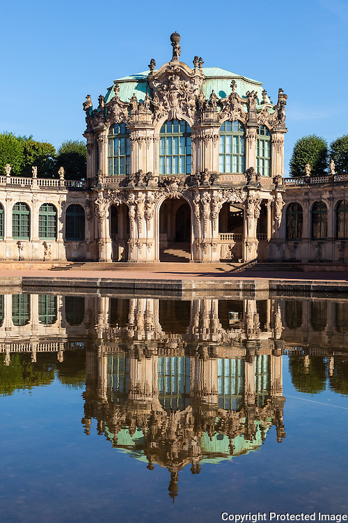 The Zwinger (Der Dresdner Zwinger) is a palace in Dresden, eastern Germany, built in Rococo style and designed by court architect Matthäus Daniel Pöppelmann. It served as the orangery, exhibition gallery and festival arena of the Dresden Court.