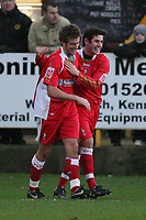 Photo: Pete Lorence.<br />Boston United v Swindon Town. Coca Cola League 2. 20/01/2007.<br />Michael Pook celebrates scoring the third goal of the match.