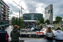 Around the stadium during the last day of the beach volleyball event King of the Court at Jaarbeursplein on September 12, 2020 in Utrecht.