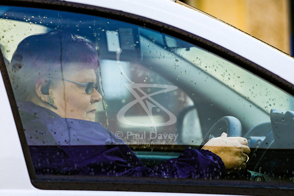Ron and Penny Jones, foster parents of the Parsons Green tube bomber Ahmed Hassan, drive away from their Sunbury home in West London. PLACE, March 16 2018.