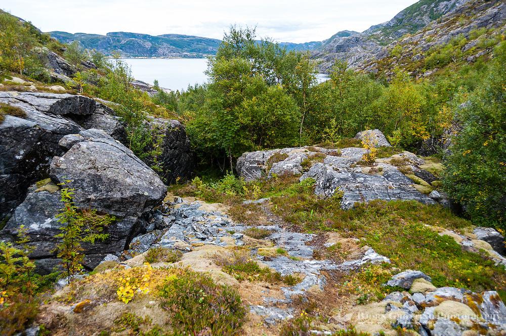 Norway, Trondelag. Simavik, a roadless location in Stokksund.