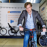 Nederland, Amsterdam, 6 maart 2017.<br /> Bastiaan Hagenouw topman van Fietsenwinkel.nl de grootste Nederlandse Fietsenverkoper.<br /><br /><br />Foto: Jean-Pierre Jans