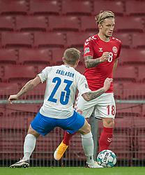 Daniel Wass (Danmark) under kampen i Nations League mellem Danmark og Island den 15. november 2020 i Parken, København (Foto: Claus Birch).