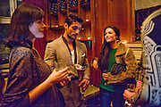 JASMINE GUINNESS; DAVID GANDY; NATALIA BARBIERI, London College of Fashion hosts party to celebrate the opening of Carmen: A Life in Fashion with guest of honour Carmen Dell'Orefice. Il Bottachio, Hyde Park Corner. London. 16 November 2011. <br /> <br />  , -DO NOT ARCHIVE-© Copyright Photograph by Dafydd Jones. 248 Clapham Rd. London SW9 0PZ. Tel 0207 820 0771. www.dafjones.com.