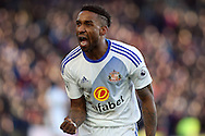 Jermain Defoe of Sunderland celebrates after scoring Sunderland's third goal. Premier League match, Crystal Palace v Sunderland at Selhurst Park in London on Saturday 4th February 2017. pic by Steffan Bowen, Andrew Orchard sports photography.