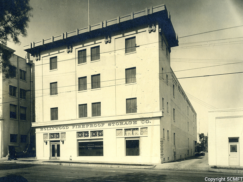 1916 Hollywood Fireproof Storage Co. building at 1666 Highland Ave. Built by C.E. Toberman it later became the home of Max Factor cosmetics.