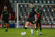 Forest Green Rovers Aaron Collins(10) controls the ball during the EFL Sky Bet League 2 match between Stevenage and Forest Green Rovers at the Lamex Stadium, Stevenage, England on 26 December 2019.