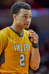 NORMAL, IL - February 05: Deion Lavender during a college basketball game between the ISU Redbirds and the Valparaiso Crusaders on February 05 2019 at Redbird Arena in Normal, IL. (Photo by Alan Look)