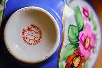 Russie, tasse Russe Gardner en porcelaine // Russia, Gardner porcelaine tea cup
