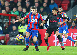 December 28, 2017 - London, England, United Kingdom - Crystal Palace's James McArthur holds of Arsenal's Alexis Sanchez..during Premier League  match between Crystal Palace and Arsenal at Selhurst Park Stadium, London,  England 28 Dec 2017. (Credit Image: © Kieran Galvin/NurPhoto via ZUMA Press)