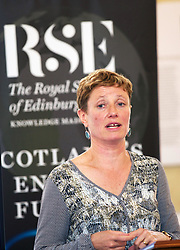 Prof Becky Lunn, deputy chair of RSE energy inquiry, outlining the findings in its report 'Scotland's Energy Future' at the Royal Society of Edinburgh HQ. pic copyright Terry Murden @edinburghelitemedia