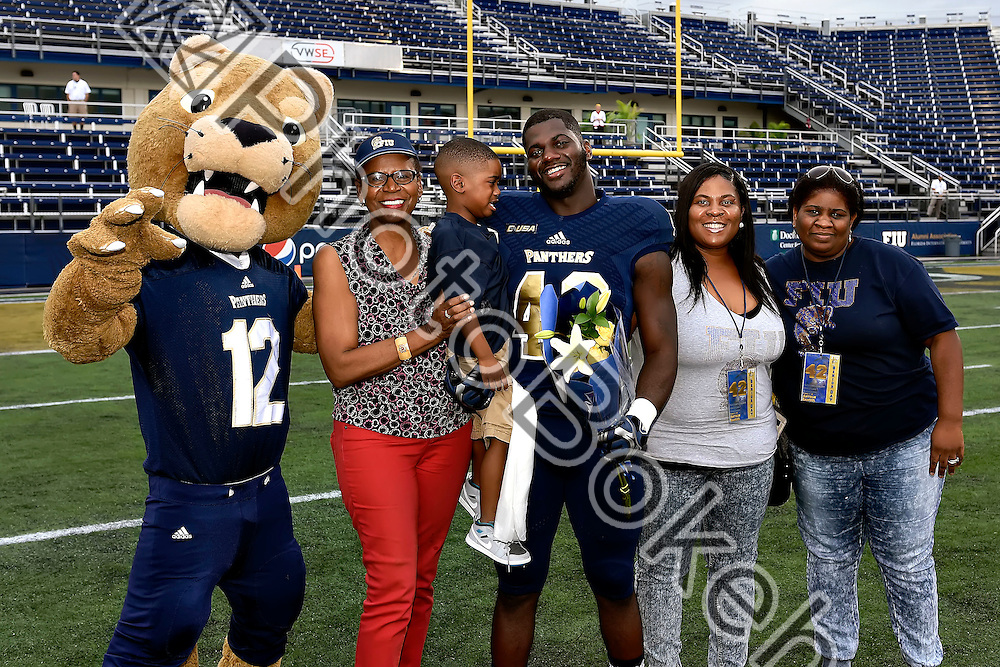 2015 November 21 - FIU's Anthon Samuel (42). <br /> Florida International University fell to Western Kentucky, 63-7, at Ocean Bank Field, Miami, Florida. (Photo by: Alex J. Hernandez / photobokeh.com) This image is copyright by PhotoBokeh.com and may not be reproduced or retransmitted without express written consent of PhotoBokeh.com. ©2015 PhotoBokeh.com - All Rights Reserved