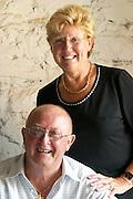 Christine Rigolle and Michel Vanhoulte Vinyes Mas Romani. Owner winemaker. Spain Europe.