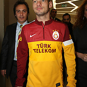 Turkish soccer club Galatasaray new player Wesley Sneijder seen during their medical control at the Liv Hospital in Istanbul Turkey on Tuesday 22 January 2013. Photo by TURKPIX