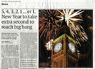 Big Ben Millenium Fireworks / The Gaurdian - Dec 31st 2008