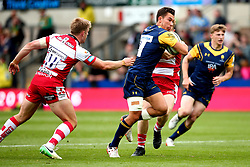 Nick David of Worcester Warriors runs through a tackle - Mandatory by-line: Robbie Stephenson/JMP - 29/07/2017 - RUGBY - Franklin's Gardens - Northampton, England - Worcester Warriors v Gloucester Rugby - Singha Premiership Rugby 7s