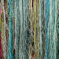 Asia, China, Suzhou. Colorful silk threads for embroidery.