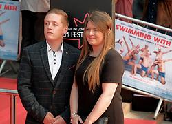 Edinburgh Film Festival, Sunday 1st July 2018<br /> <br /> SWIMMING WITH MEN (UK Premiere - Closing Night Gala)<br /> <br /> Pictured:  Thomas Turgoose and Charlotte Revell<br /> <br /> Alex Todd | Edinburgh Elite media