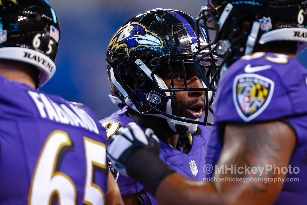 INDIANAPOLIS, IN - AUGUST 20: Ronnie Stanley #79 of the Baltimore Ravens is before the game against the Indianapolis Colts at Lucas Oil Stadium on August 20, 2016 in Indianapolis, Indiana.  (Photo by Michael Hickey/Getty Images) *** Local Caption *** Ronnie Stanley