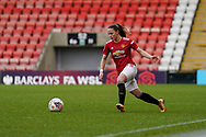Manchester United Women defender Ona Batlle (17) passes the ball during the FA Women's Super League match between Manchester United Women and BIrmingham City Women at Leigh Sports Village, Leigh, United Kingdom on 24 January 2021.