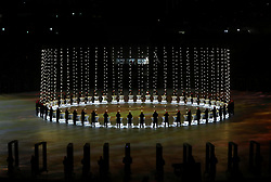 Performers during the Opening Ceremony of the PyeongChang 2018 Winter Olympic Games at the PyeongChang Olympic Stadium in South Korea.