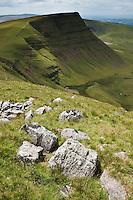 View towards Picws Du, Black mountain, Brecon Beacons national park, Wales