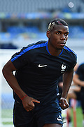 PARIS, FRANCE - JUNE 09: (CHINA OUT) <br /> <br /> Paul Pogba of France attends a training session on the eve of the beginning of the Euro 2016 European football championships football match against Romania at Stade de France stadium on June 9, 2016 in Saint-Denis near Paris, France.<br /> ©Exclusivepix Media