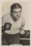 "Amazing images of Britain's best boxers from the 1920's<br /> <br /> From the 1920s up until World War 2 cigarette companies, sporting magazines and boys' weeklies included real photo cards of sports stars to collect and swap. These photos of British boxers come from magazines like The Champion, The Magnet and Boy's Friend and cigarette companies such as Senior Service and Ogdens.<br /> <br /> Photo shows: Jack ""Kid"" Berg: One of the legendary fighters to emerge from the East End's Jewish quarter, he was born Judah Bergman and began fighting as Jack Berg in 1923. Known as the Whitechapel Windmill, he won world titles as a lightweight and super-lightweight and beat such giants as Tony Canzoneri, Kid Chocolate and Billy Petrolle. There is a blue plaque dedicated to him in Cable St, Stepney.<br /> ©One mans treasure/Exclusivepix Media"