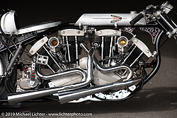 Ken Kentaro's Hot Chop Speed Shop twin-engine Harley-Davidson Sportster drag bike. Kyoto, Japan. Friday, December 7, 2018. Photography ©2018 Michael Lichter.