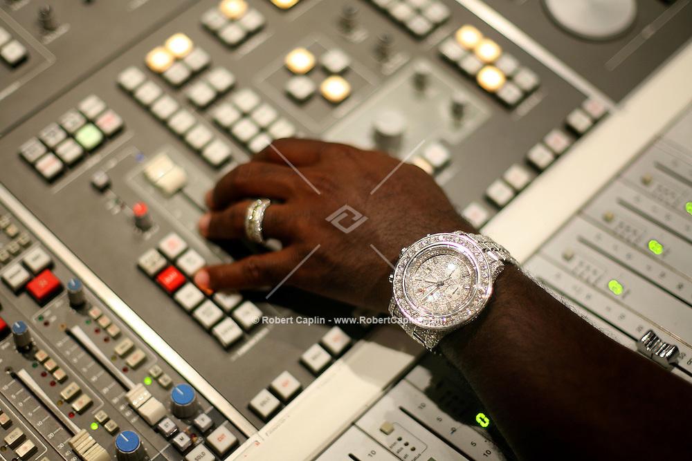 Music Producer Rodney (Darkchild) Jerkins Sony Studios in New York City.