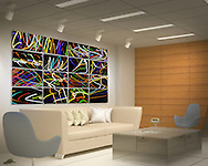 """Sixteen of the individual Neon Candy Series images, each one printed on a 20"""" x 10"""" piece of aluminum using floating mounts.  Larger single images can continue this extravaganza of color throughout an office or on a hotel floor.  Spectacular, don't you think?  Contact me for further details."""