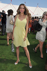 PETRA NEMCOVA at the 27th annual Cartier International Polo Day featuring the 100th Coronation Cup between England and Brazil held at Guards Polo Club, Windsor Great Park, Berkshire on 24th July 2011.