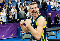 Goran Dragic of Slovenia celebrates after winning during basketball match between National Teams of Finland and Slovenia at Day 3 of the FIBA EuroBasket 2017 at Hartwall Arena in Helsinki, Finland on September 2, 2017. Photo by Vid Ponikvar / Sportida