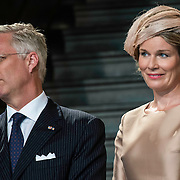 NLD/Maastricht/20140830 - Festivities on the occasion of the 200th jubilee of the Kingdom of the Netherlands in Maastricht - 200 Jaar Koninkrijk der Nederlanden, King Philippe en Queen Mathilde van België