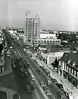 1938 Looking east at Wilshire Blvd. and Western Ave.