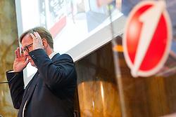 06.08.2015, Bank Austria Zentrale, Wien, AUT, Bank Austria, Präsentation der Ergebnisse des Ersten Halbjahres, im Bild Vorstandsvorsitzender Willibald Cernko // CEO Willibald Cernko during presentation of trading results at mid- year at Bank Austria Headquarter in Vienna, Austria on 2015/08/06, EXPA Pictures © 2015, PhotoCredit: EXPA/ Michael Gruber