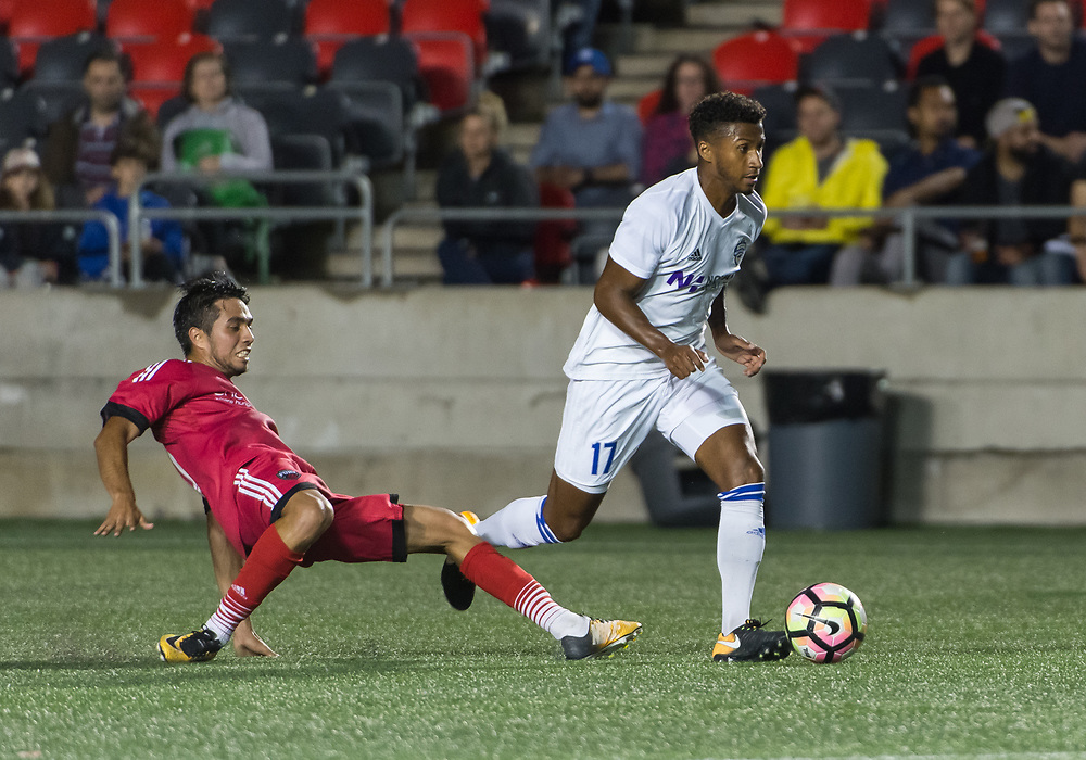 OTTAWA, ON - AUGUST 12: USL match between the Ottawa Fury FC and Charlotte Independence at TD Place Stadium in Ottawa, ON. Canada on Aug. 12, 2017.<br /> <br /> PHOTO: Steve Kingsman/Freestyle Photography/Ottawa Fury FC