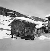 Winter Cattle Shed, Blatten, Swiss Alps