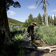 MAMMOTH, CA, AUG 22, 2006:  Enjoying the outdoors in Mammoth, California  on August 22, 2006  (Photograph by Todd Bigelow/Aurora).
